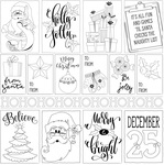 Christmas 3x4 Cards Paper - Color Me - Photoplay