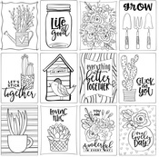 Grow 3x4 Cards Paper - Color Me - Photoplay