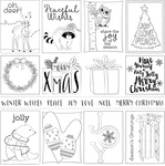 Winter 3x4 Cards Paper - Color Me - Photoplay