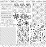 Winter Layered Cards Paper - Color Me - Photoplay