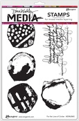 "For The Love Of Circles - Dina Wakley Media Cling Stamps 6""X9"""