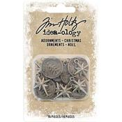 Antique Nickel Ornaments - Tim Holtz