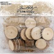 Natural Raw Edge Wood Slices - Tim Holtz