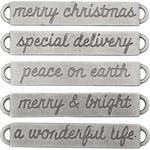 Antique Nickel Christmas Word Bands - Tim Holtz