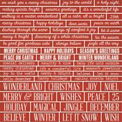 Christmas, Words & Phrases Chipboard Quotes - Tim Holtz