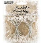 White Beaded Berry Stems - Tim Holtz