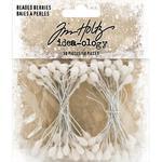 White Beaded Berry Stems - Tim Holtz - PRE ORDER