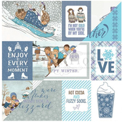 #6 Cut-Apart Cards Paper - Frosted - Authentique