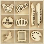 Artist Flourish Wood Pack - KaiserCraft