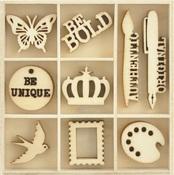 Artist Flourish Wood Pack - KaiserCraft - PRE ORDER