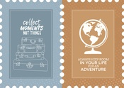 Postage Stamp Die Cut Paper - Lets Go - KaiserCraft