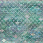 Mermaid Scales Foil Paper - Deep Sea - KaiserCraft - PRE ORDER
