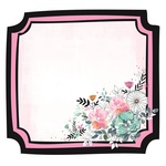 Floral Frame Die Cut Paper - Blessed - KaiserCraft