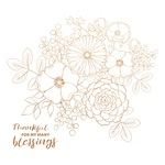 Bouquet Foil Accented Paper - Blessed - KaiserCraft