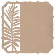 Fern Bracket Die Cut Paper - Whisper - KaiserCraft