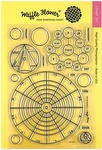 """Color Wheels - Waffle Flower Crafts Clear Stamp 5""""X7"""""""