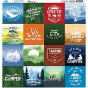 Scenic View Square Stickers - Reminisce