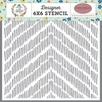 Distressed Chevron Stencil - Carta Bella