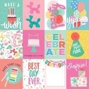 3x4 Journaling Cards Paper - Let's Party - Echo Park - PRE ORDER
