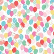 Birthday Balloons Paper - Let's Party - Echo Park - PRE ORDER