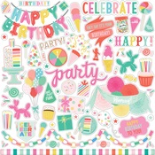 Let's Party Element Sticker - Echo Park