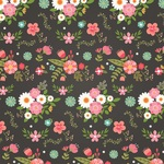 Fancy Floral Paper - I Heart Crafting - Echo Park