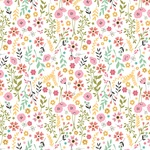Pretty Flowers Paper - I Heart Crafting - Echo Park