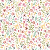 Pretty Flowers Paper - I Heart Crafting - Echo Park - PRE ORDER