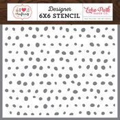 Paint Dots Stencil - I Heart Crafting - Echo Park - PRE ORDER