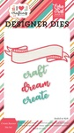 Create Banner Die Set - I Heart Crafting - Echo Park