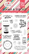 Just Add Glitter Die & Stamp Set - I Heart Crafting - Echo Park
