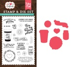 Just Add Glitter Stamp & Die Set - I Heart Crafting - Echo Park