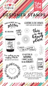 Just Add Glitter Stamp Set - I Heart Crafting - Echo Park