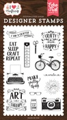 I am A Crafter Stamp - I Heart Crafting - Echo Park - PRE ORDER