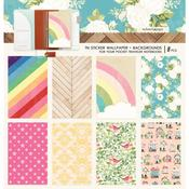 Colors Backgrounds Pocket Travel Notebook Sticker Wallpaper - Websters Pages