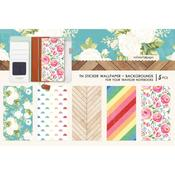 Colors Background Travel Notebook Sticker Wallpaper - Websters Pages