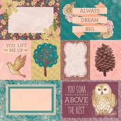 Take Flight Paper - Floral Spice - Bo Bunny