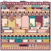 Floral Spice Combo Stickers - Bo Bunny