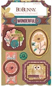 Floral Spice Layered Chipboard - Bo Bunny