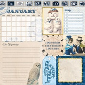 January Banner Year Paper - Bo Bunny