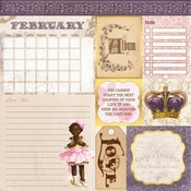 February Banner Year Paper - Bo Bunny