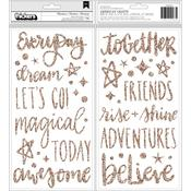Adventures Phrase Foam & Gold Glitter Thickers Shimelle