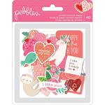 Loves Me Quote Iridescent Glitter Ephemera - Pebbles
