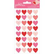 Conversation Hearts Puffy Stickers - Loves Me - Pebbles