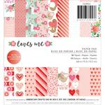 Loves Me 6 x 6 Paper Pad - Pebbles