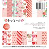 Loves Me 6 x 6 Paper Pad - Pebbles