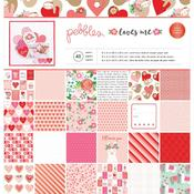 Loves Me 12 x 12 Paper Pad - Pebbles
