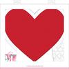 Heart Framed Letterboard - Pebbles