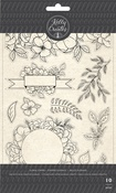 Florals - Kelly Creates Acrylic Traceable Stamps