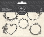 Wreaths - Kelly Creates Acrylic Traceable Stamps